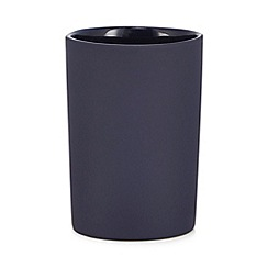 J by Jasper Conran - Navy soft touch toothbrush holder