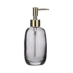 Home Collection - Dark grey glass 'Nordic' soap dispenser