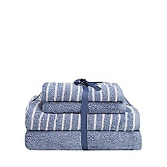 Home Collection Basics - Blue stripe print soft towel bale