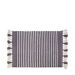 Debenhams - Grey stripe print 'Sophie' bath mat