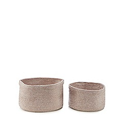 Home Collection - 2 pack pink 'Nordic' storage baskets