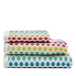 Debenhams Multi Coloured Spotted Towels
