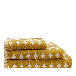 Home Collection - Yellow retro spot print towel