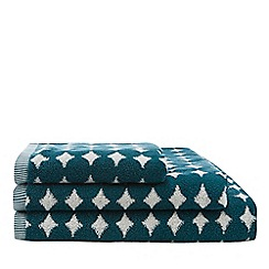 Home Collection - Green retro spot print towel