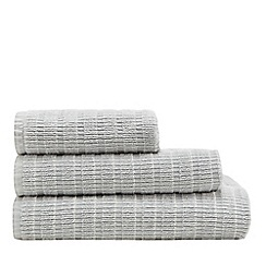 Home Collection - Light green textured stripe towel