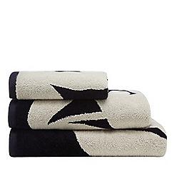 J by Jasper Conran - Navy leaf print 'Madison' towels