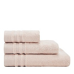 Christy - Yellow Striped Border Towels