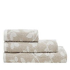 Christy - Natural 'Cambridge' Leaf Print Towels