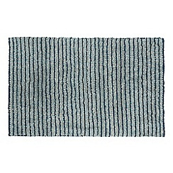Christy - Aqua 'Burlington' Striped Bath Mat