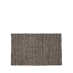 Christy - Light grey 'Burlington' striped bath mat