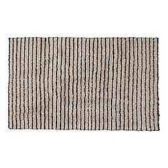 Christy - Natural 'Burlington' striped bath mat