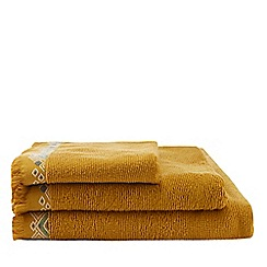 MW by Matthew Williamson - Yellow embroidered hem towel