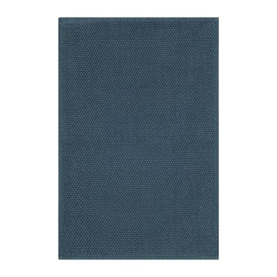 Home Collection Mid Blue Bobble Bath Mat  be078f9b394f