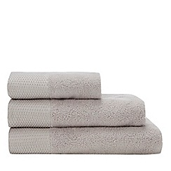 Star by Julien Macdonald -  Grey Metallic Oval Trim Towels