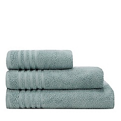 Debenhams - Aqua Striped Border Towels
