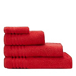 Debenhams - Red Striped Border Towels