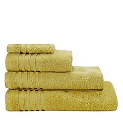 Debenhams - Yellow Striped Border Towels