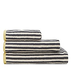Debenhams - Grey Stripe Reversible Cotton Towels