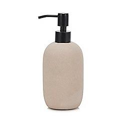 Debenhams - Pale Pink Sandstone Soap Dispenser