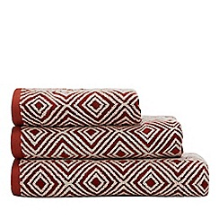 J by Jasper Conran - Orange Geometric Towels