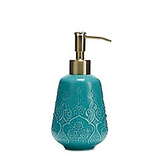 MW by Matthew Williamson - Aqua Embossed Soap Dispenser