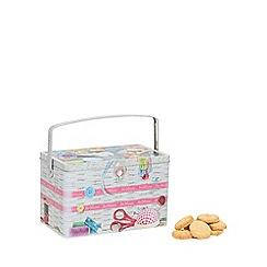 Debenhams - Sewing box biscuit tin with Danish cookies - 350g