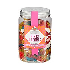 Sweet Shop - Rings and Hearts Pick n Mix Jar - 830g