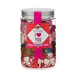 Sweet Shop - 'I Love You' jar of sweets - 800g