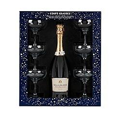 Debenhams - Villa Jolanda prosecco and 6 coupe glasses gift box