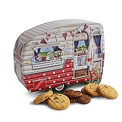 Debenhams - Caravan shaped novelty biscuit tin - 400g