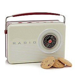 Debenhams - Retro radio tin with 3 biscuit varieties