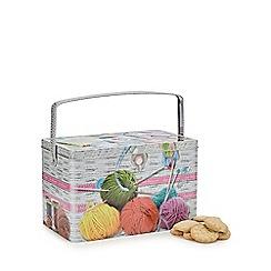 Debenhams - Sewing box biscuit tin with Danish cookies