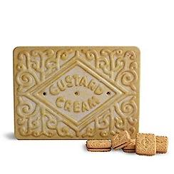 Debenhams - Custard cream shaped novelty biscuit tin - 450g