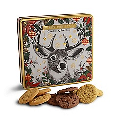 Debenhams - Festive modern stag cookie selection tin - 450g