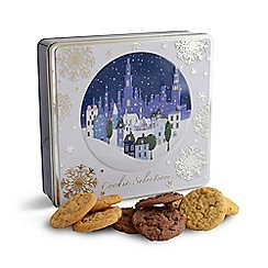 Debenhams - Midnight snowflake scene cookie selection tin - 450g