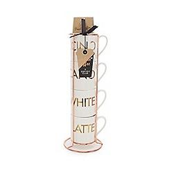 Debenhams - Stacking Mugs and Coffee Set