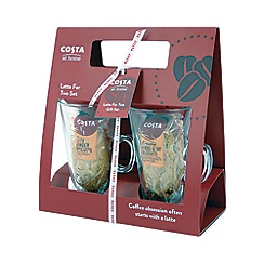 Costa - Latte glass set for two