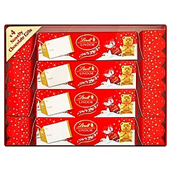 Lindt - Pack of 4 chocolate crackers