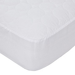 Home Collection - White luxury cotton quilted mattress protector