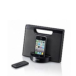 Sony - Black docking speaker and radio RDP-M5IP