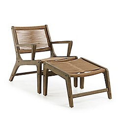 Debenhams - 'La Forma' lounge chair with foot rest