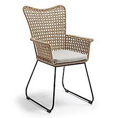 Debenhams - 'La Forma' rattan high back armchair