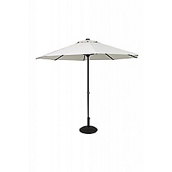 Debenhams - Grey 'Easy-Up' 2.7m parasol