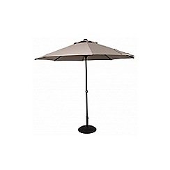 Debenhams - Taupe 'Easy-Up' 3.3m parasol