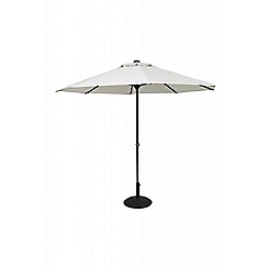 Debenhams - Grey 'Easy-Up' 3.3m parasol