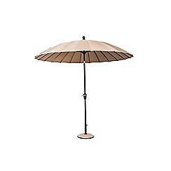 Debenhams - Taupe 'Geisha' 2.7m parasol