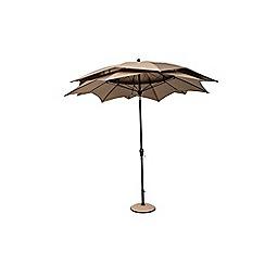 Debenhams - Taupe 'Lotus' 2.7m parasol