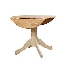 Debenhams - Two-tone 'York' round drop-leaf table