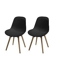 Debenhams - Pair of black 'Sammi' chairs