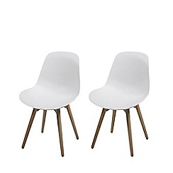 Debenhams - Pair of white 'Sammi' chairs